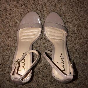 Lulu's heels. Size 7